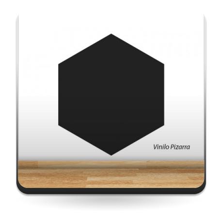 Pizarra Hexagono adhesivo decorativo ambiente