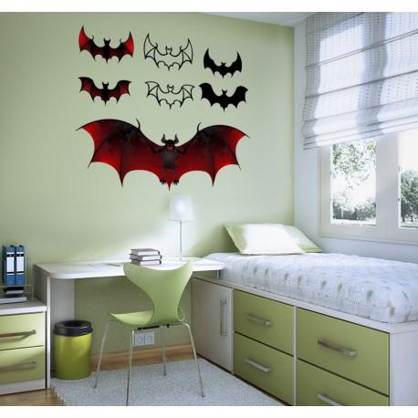 Murciélagos Composición imagen vinilo decorativo