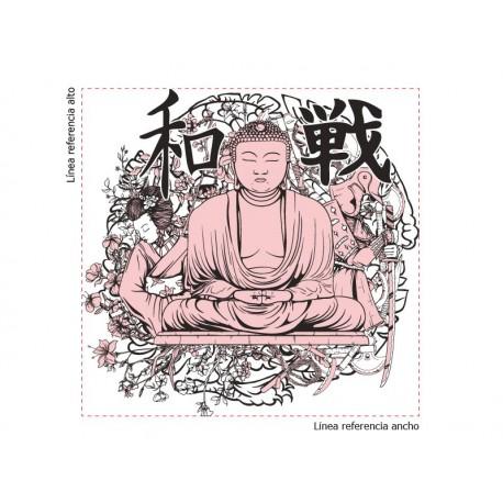 vinilos imagen producto Buda para Pared
