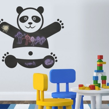 Pizarra Oso Panda imagen vinilo decorativo