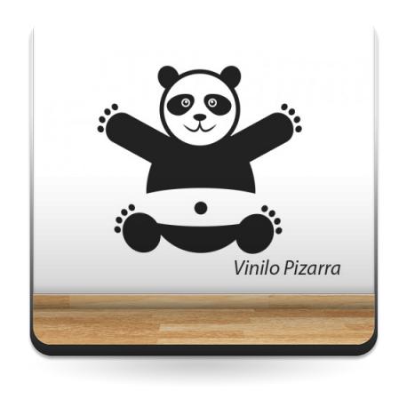 Pizarra Oso Panda adhesivo decorativo ambiente