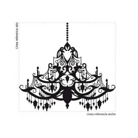 Lámpara de Araña Barroco adhesivo decorativo ambiente