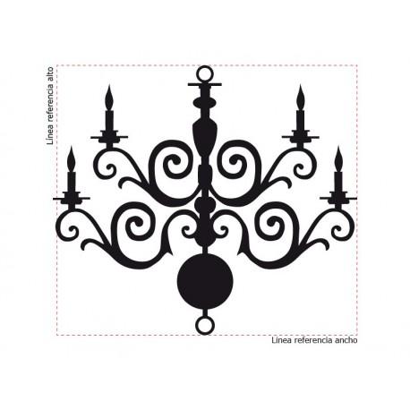 pegatina decorativa Lámpara de Araña Romántico