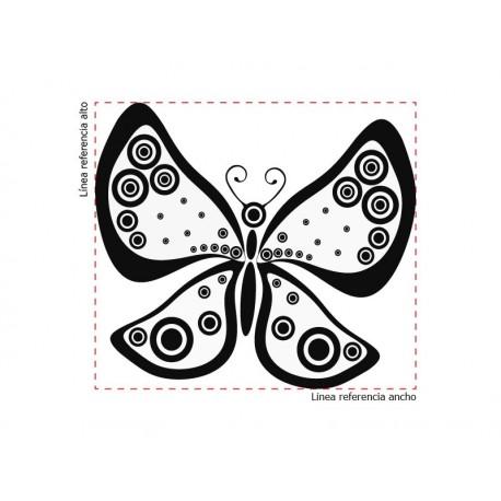 Mariposa Fantasy decoración con vinilo