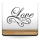 pegatina decorativa Love Texto