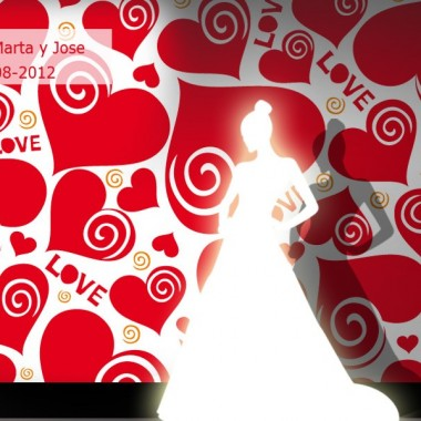 Photocall Boda Corazones Love producto vinilos