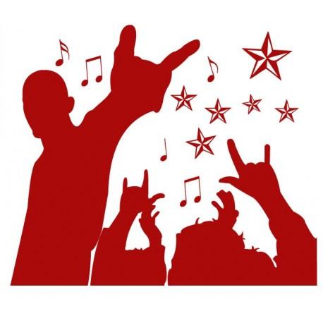 Red Party Composición decoración con vinilo