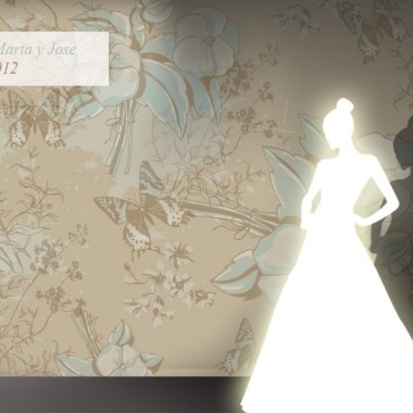 adhesivo decorativo Photocall Boda Floral