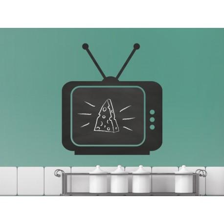 pegatina pared Pizarra Vintage Televisor