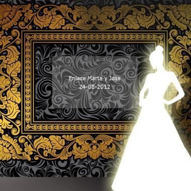 Photocall Boda Romance imagen vinilo decorativo