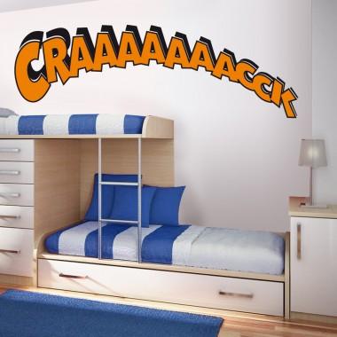 """vinilo decorativo Onomatopeya """"Craaack"""""""