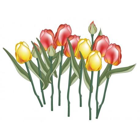 Tulipanes Cortados Ramo adhesivo decorativo ambiente