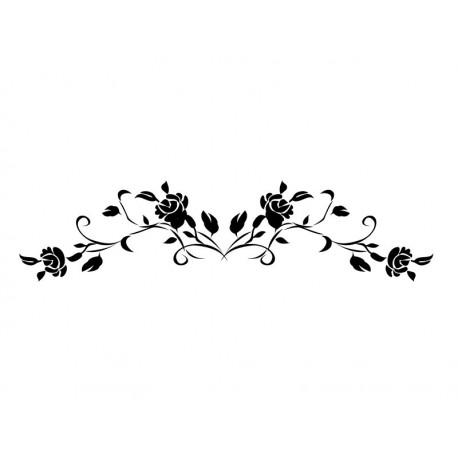 pegatina decorativa Rosas Ornamento