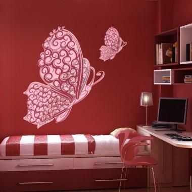 pegatina pared Mariposa Rosé