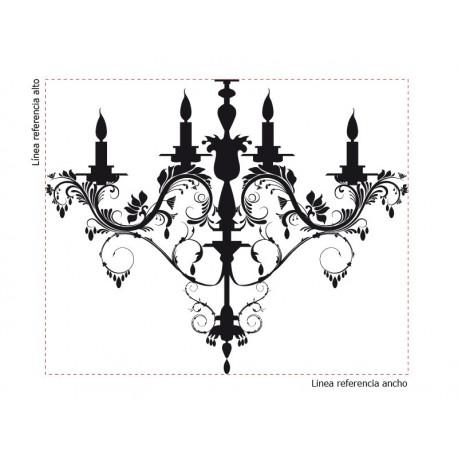 Lámpara Araña Luis XV producto vinilos