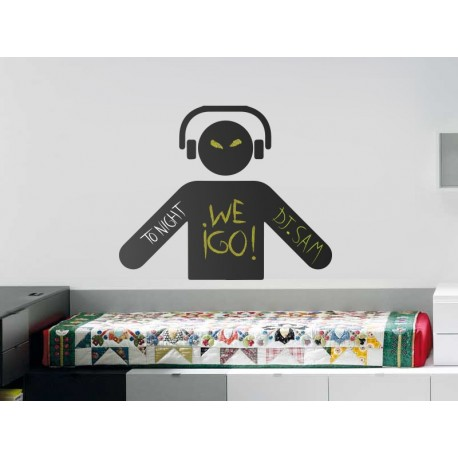 Pizarra DJ imagen vinilo decorativo