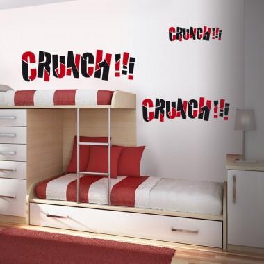 "Onomatopeya ""Crunch"" imagen vinilo decorativo"