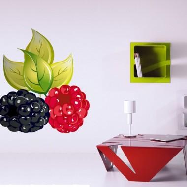 Frambuesas adhesivo decorativo ambiente