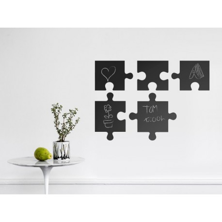 pegatina decorativa Pizarra Puzzle