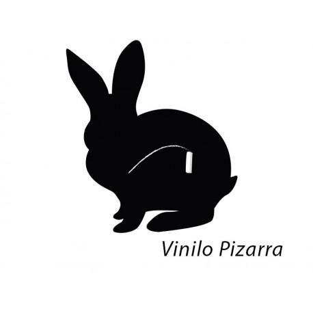 Pizarra Conejo imagen vinilo decorativo