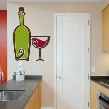 adhesivo decorativo Vino y Copa