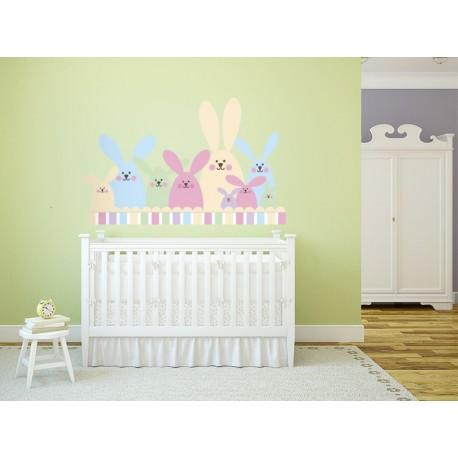 Conejitos Preescolar imagen vinilo decorativo