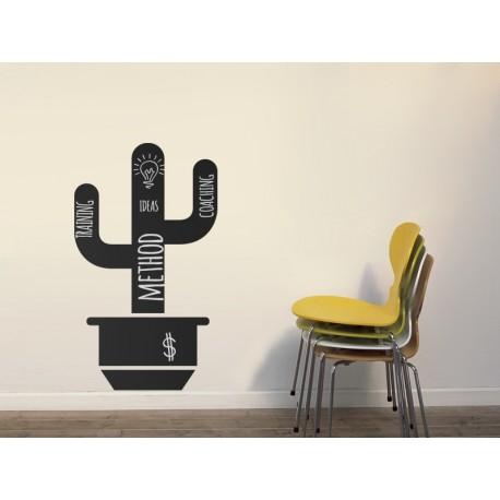 Pizarra Cactus Maceta decoración con vinilo