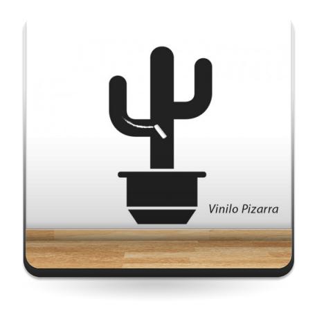 vinilo decorativo Pizarra Cactus Maceta