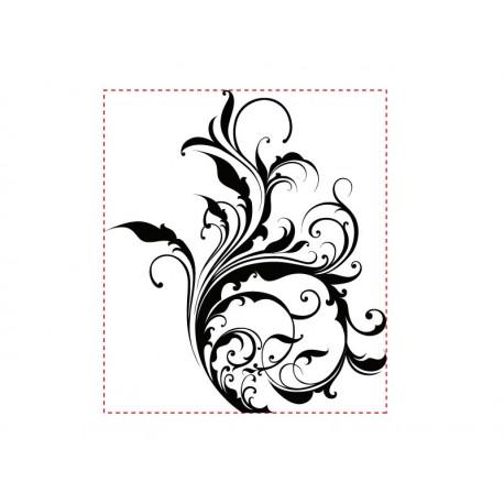 Orgánico Hojas Fantasía decoración con vinilo
