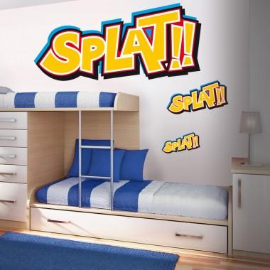 "vinilos imagen producto Onomatopeya ""Splat"""
