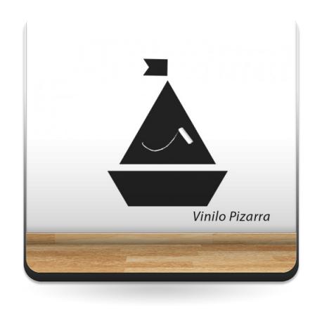 adhesivo decorativo Pizarra Barco Velero
