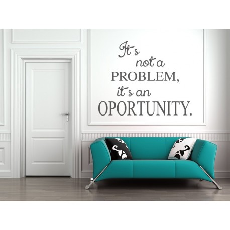 Texto No Problem adhesivo decorativo ambiente