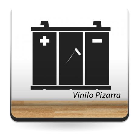 Pizarra Coche Batería adhesivo decorativo ambiente