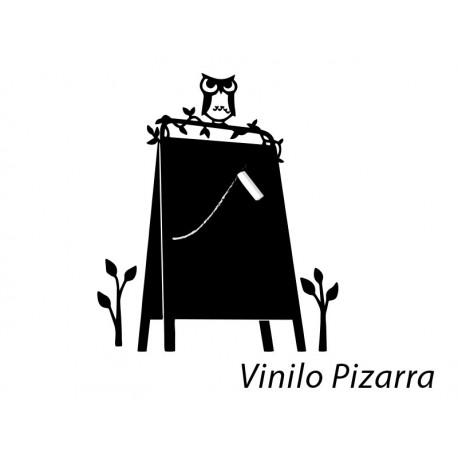 Pizarra Búho imagen vinilo decorativo