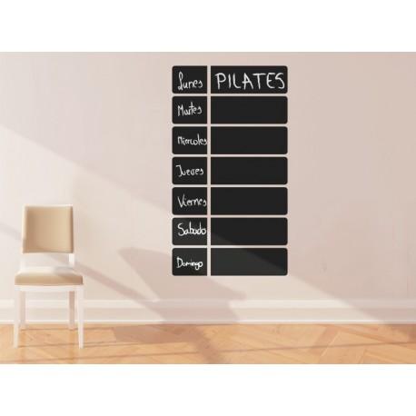 Pizarra Planificación adhesivo decorativo ambiente