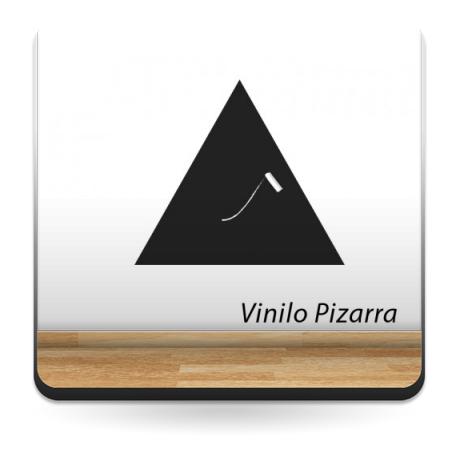 vinilos imagen producto Pizarra Triángulo