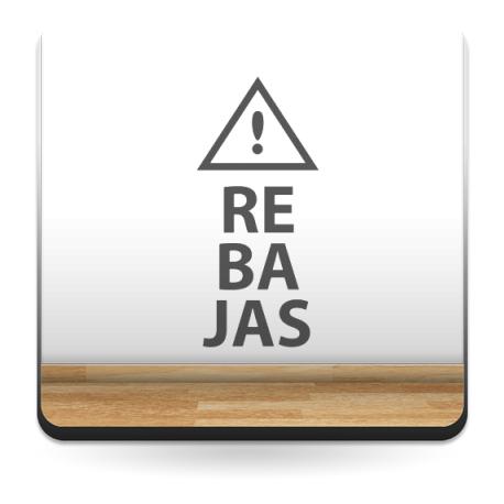 pegatina pared Rebajas Vertical con Icono