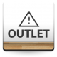 Outlet Horizontal con Icono adhesivo decorativo ambiente