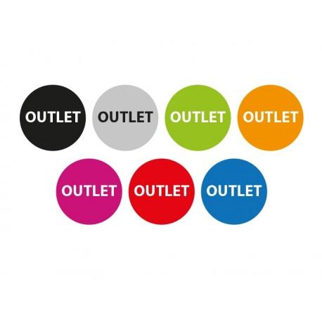 Outlet Circular Reposicionable decoración con vinilo