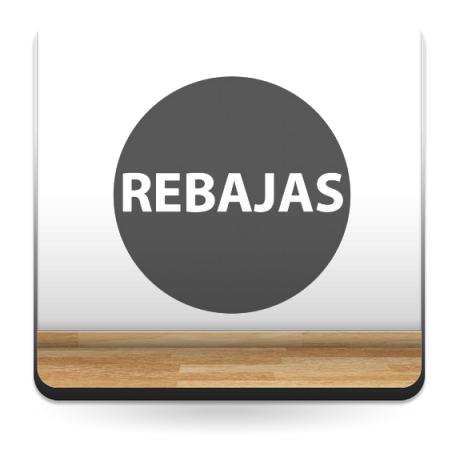 pegatina pared Rebajas Circular Permanente