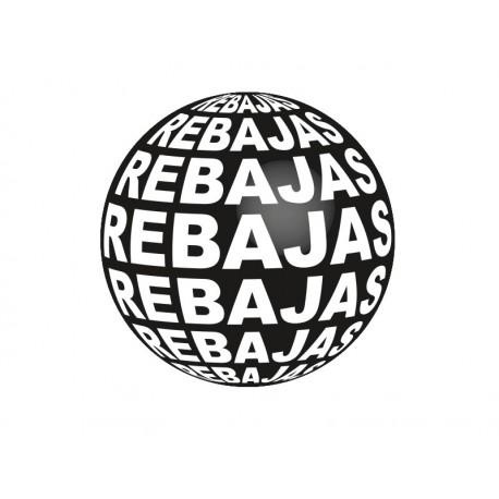 pegatina pared Rebajas 3D Negro Reposicionable