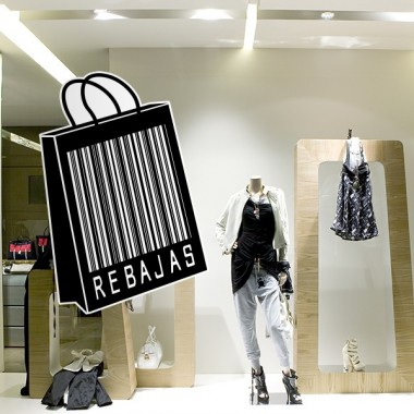 vinilo decorativo Rebajas Reposicionable Sopping Bag II