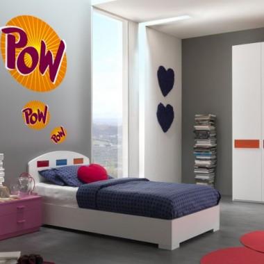 "vinilos imagen producto Onomatopeya ""Pow"" para Cabecero"