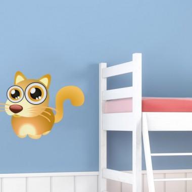 """pegatina pared Gato """"Max"""" para Pegatina"""