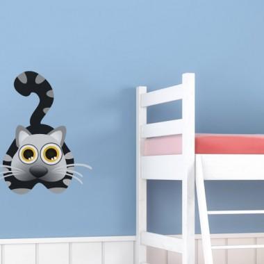 """Gato """"Misi"""" en Pegatina adhesivo decorativo ambiente"""