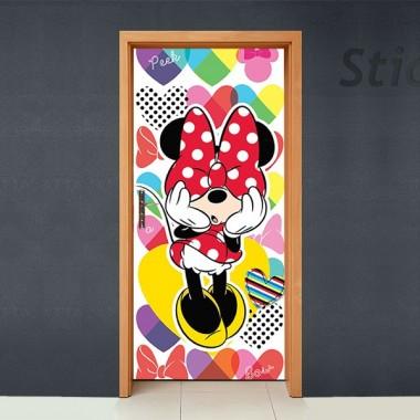 pegatina pared Disney Cubrepuertas Adhesivo 64