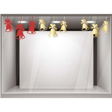 pegatina pared Campanas Navidad Composición
