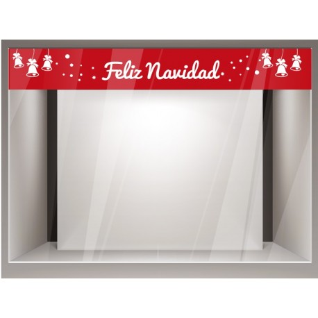Vinilo Navidad Reposicionable Cenefa decoración con vinilo