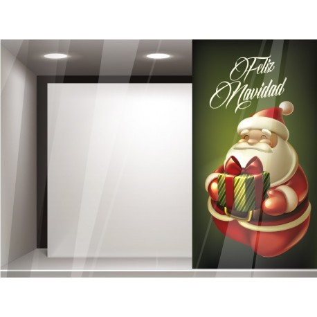adhesivo decorativo Vinilo Papa Noel Reposicionable