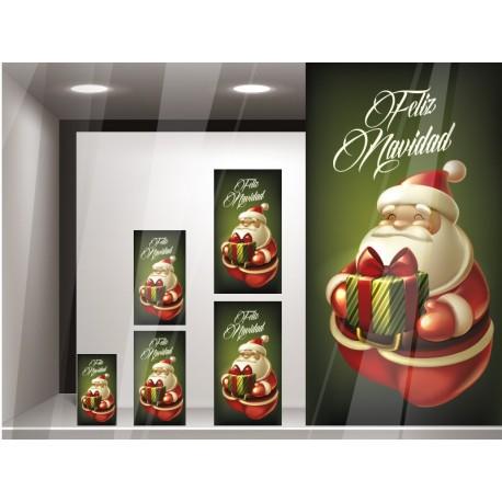 Vinilo Papa Noel Reposicionable imagen vinilo decorativo